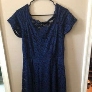Women's Navy Lace Bridesmaid /cocktail dress  XL